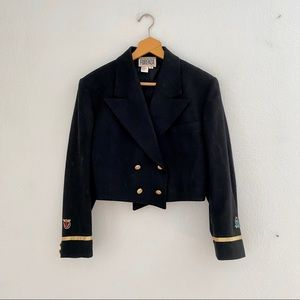 1990s Forenza Cropped Military Jacket Wool Small
